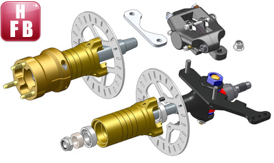 Front Hand Brake | Components | products | TECNO kart racing